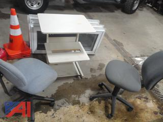 Office Chairs & Printer Stand