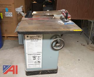 "Delta Unisaw 10"" Tilting Arbor Saw/MS"