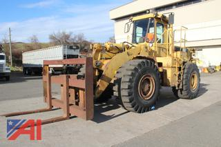 1988 Caterpillar 966E Wheel Loader with Attachments