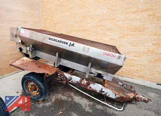 9'T Tarco V-Body Drop in Spreader With Homemade Trailer