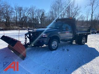 2005 Ford F550 Dump Truck with Plow and Salter