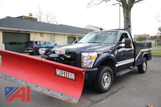 2011 Ford F250 XLT Super Duty Utility Truck with Plow