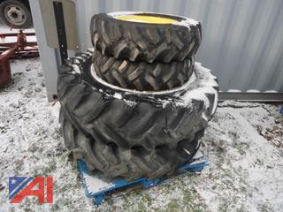 Sets of Tractor Tires on John Deere Rims