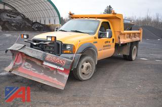 2005 Ford F550 Dump Truck with Plow & Spreader
