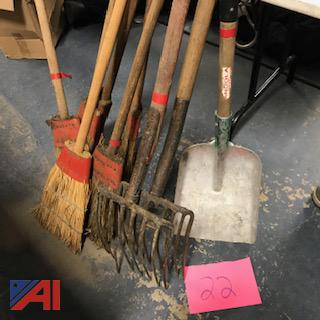 Brooms, Shovels, Pitch Fork
