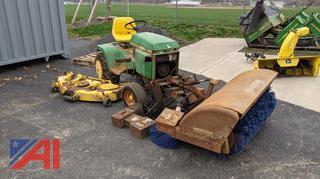 John Deere 318 Mower & Attachments