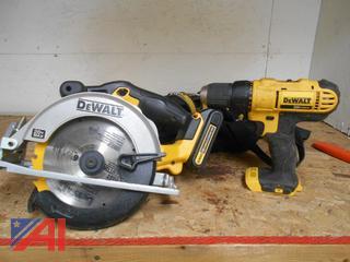 "Dewalt 20V Max Cordless 6 1/2"" Circular Saw and Driver"