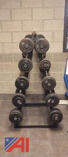 Fixed Straight & Curl Barbell Rack