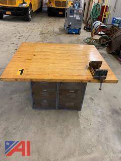 Wood Top Shop Bench