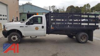 2002 Ford F450 Dump Truck with Stake Body