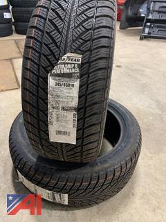 (#5) Good Year 245/45R18 Ultra Grip Tires, New