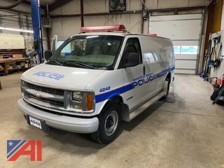 2002 Chevy Express 3500 Cargo Van/Police Vehicle