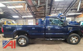 (#3) 2009 Ford F350 XL Super Duty Pickup Truck with Plow