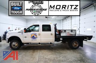 2014 Ford F350 XLT Super Duty Crew Cab Flatbed Truck/16