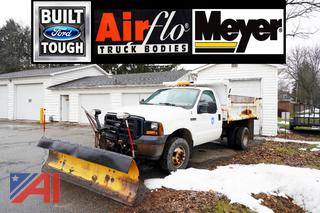 2006 Ford F350 XL Super Duty Dump Truck with Plow and Spreader