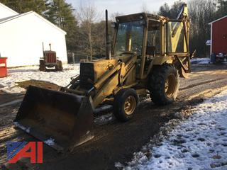 1983 Ford 555 Backhoe with Extend-A-Hoe and Bucket
