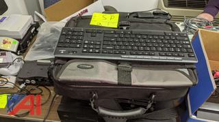 HP Printer, PS3 Unit, Keyboard & Laptop Case
