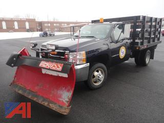 *Lot Updated* 2008 Chevy Silverado 3500HD Stake Rack Pickup Truck w/Lift Gate & Plow