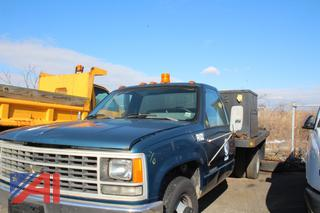 1990 Chevy C/K 3500 Flatbed Truck with Generator
