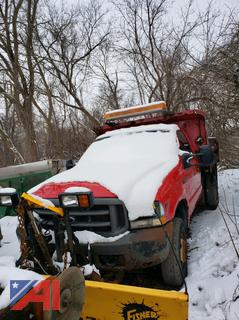 2003 Ford F350 XL Super Duty Dump Truck with Plow