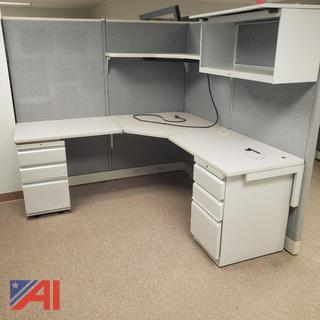 Office Cubicles, Work Stations, and File Drawers