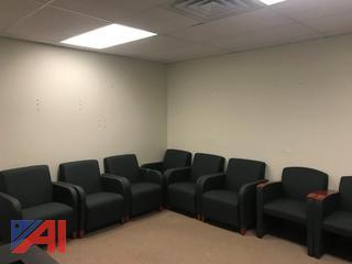 Green Waiting Room Chair Set