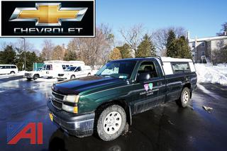 2006 Chevy Silverado 1500 LS Pickup Truck with Cap and 8' Box