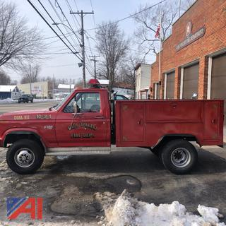 1986 Ford F350 Utility Pickup Truck