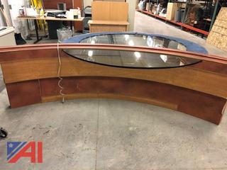 Round Glass Top Desk