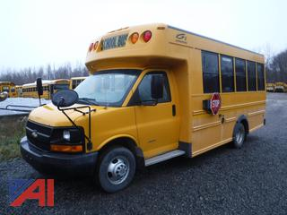 2009 Chevy Express 3500 Mini School Bus with Wheelchair Lift