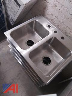 Mini Stainless Steel Double Sinks