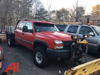 2005 Chevy Silverado 2500HD Crew Cab Truck with Plow