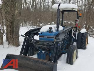 *UPDATED* 1986 Ford Tractor with Loader, Brush Hog and Winch