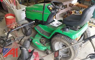 """John Deere Sabre 48"""" Riding Mower and Misc. Landscaping Items"""