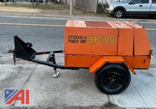 Stanley HP-175 Hydraulic Power Unit on Trailer