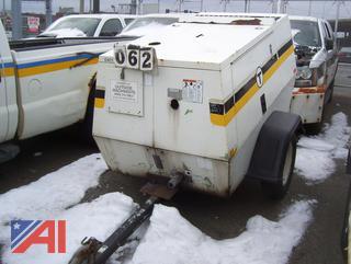 2003 Sullair 185HDPQ Air Compressor on Trailer