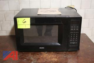 Microwave, Wooden Table and More