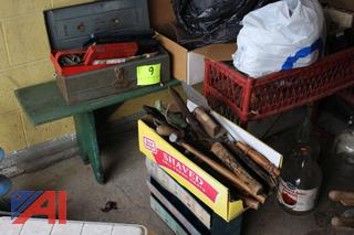 Plastic Table and Chairs, Yard Tools and More