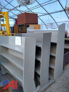 Grey Wooden Shelving Units