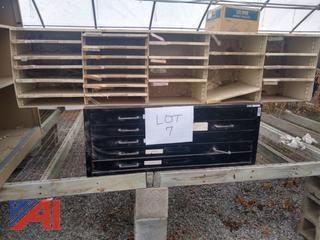 Black 5 Drawer Storage Unit