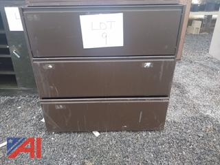 Brown 3 Drawer Cabinet