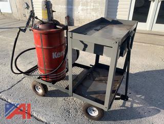 ARU Grease Pump, Samson Hose Reel, Cart & Barrel