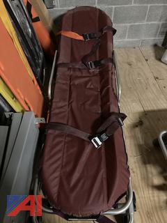 Burgundy Ferno Manual Stretcher
