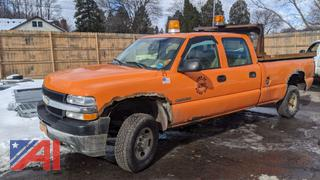 2002 Chevy Silverado 2500HD Crew Cab Pickup Truck with Dump Insert