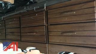 2-Drawer Bedside Stands on Wheels