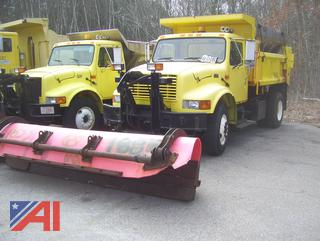 2000 International 4900 Dump Truck with Plow and Sander/E#200026