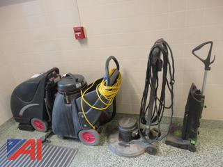Large Lot of Floor Cleaning Machines