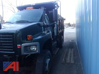 (#7) 2003 GMC C8C042 Dump Truck with Plow and Wing