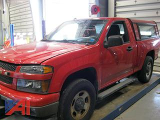 2011 Chevy Colorado Pickup Truck with Cap