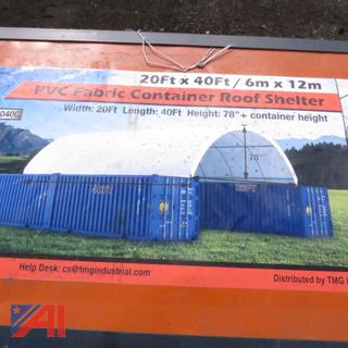 20' x 40' PVC Fabric Container Roof Shelter
